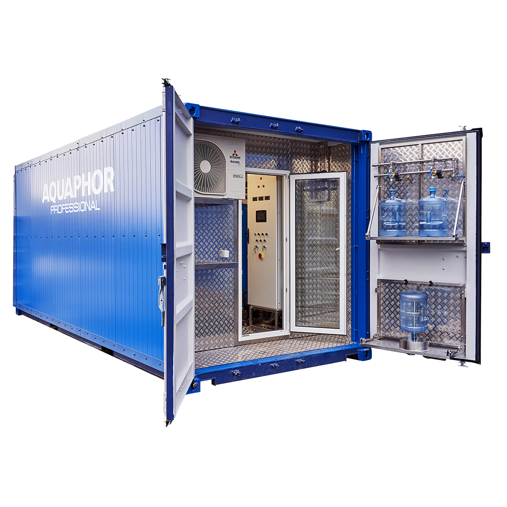 Containerized water purification plant